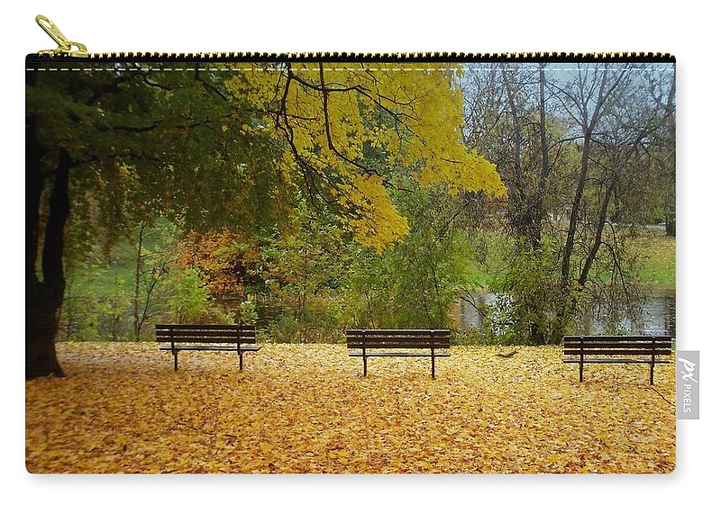 Fall Carry-all Pouch featuring the photograph Fall Series 13 by Anita Burgermeister