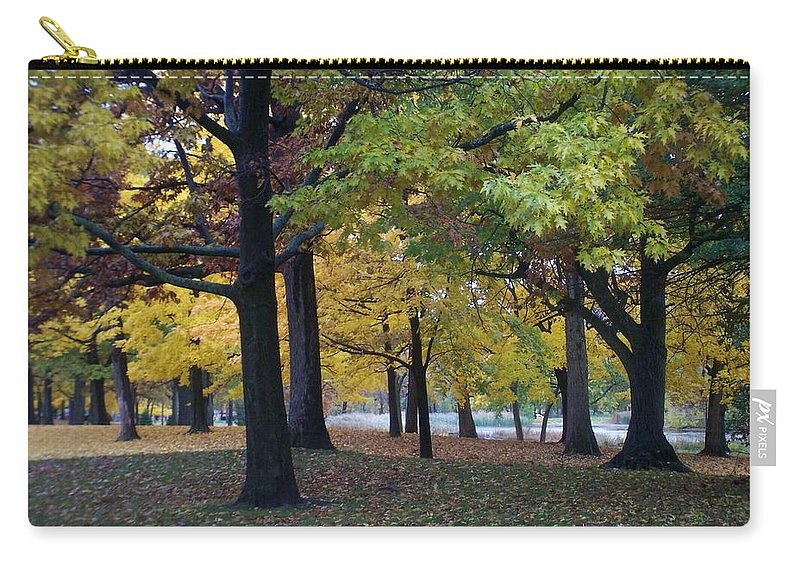 Fall Carry-all Pouch featuring the photograph Fall Series 14 by Anita Burgermeister