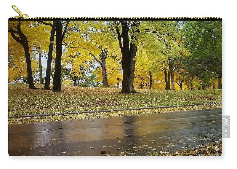 Fall Carry-all Pouch featuring the photograph Fall Series 15 by Anita Burgermeister