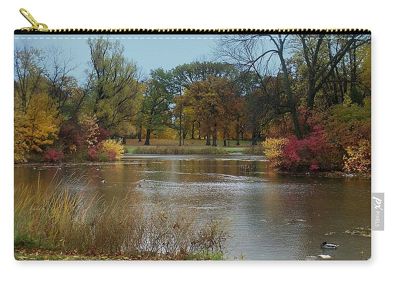 Fall Carry-all Pouch featuring the photograph Fall Series 9 by Anita Burgermeister