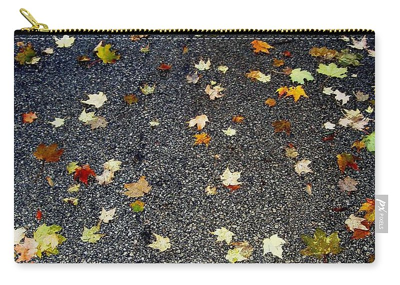 Leaves Carry-all Pouch featuring the photograph Fall Sparkle by Deborah Crew-Johnson