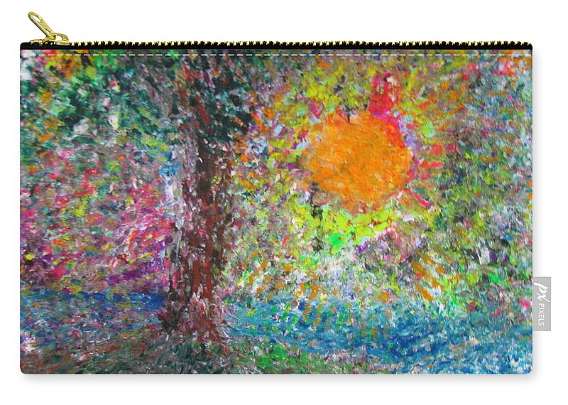 Playful Carry-all Pouch featuring the painting Fall Sun by Jacqueline Athmann