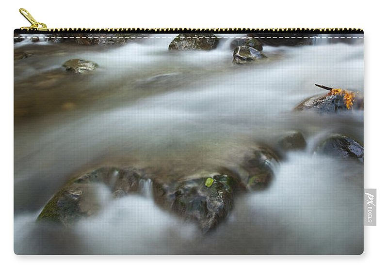 Stream Carry-all Pouch featuring the photograph Fall Surge by Mike Dawson