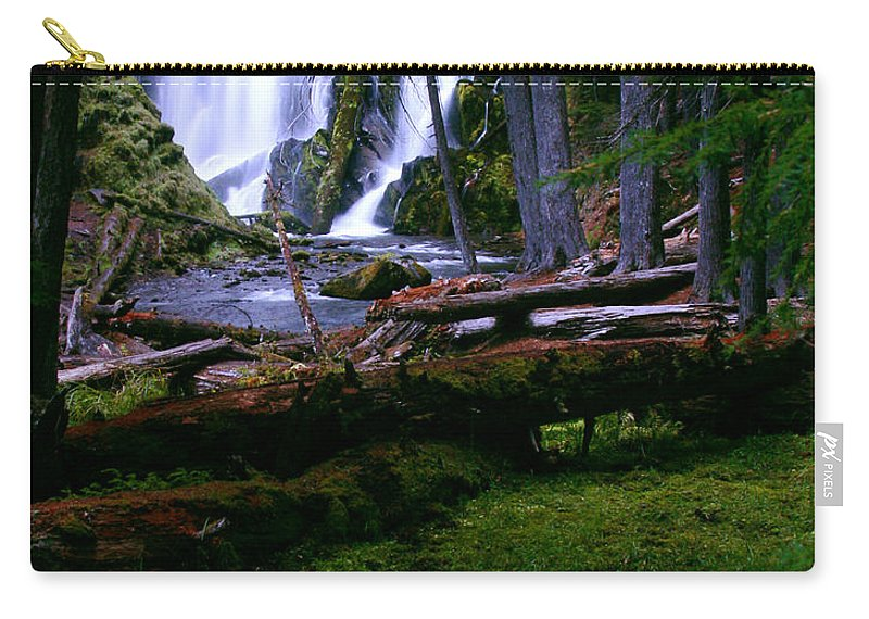 Waterfall Carry-all Pouch featuring the photograph Fall Through by Peter Piatt