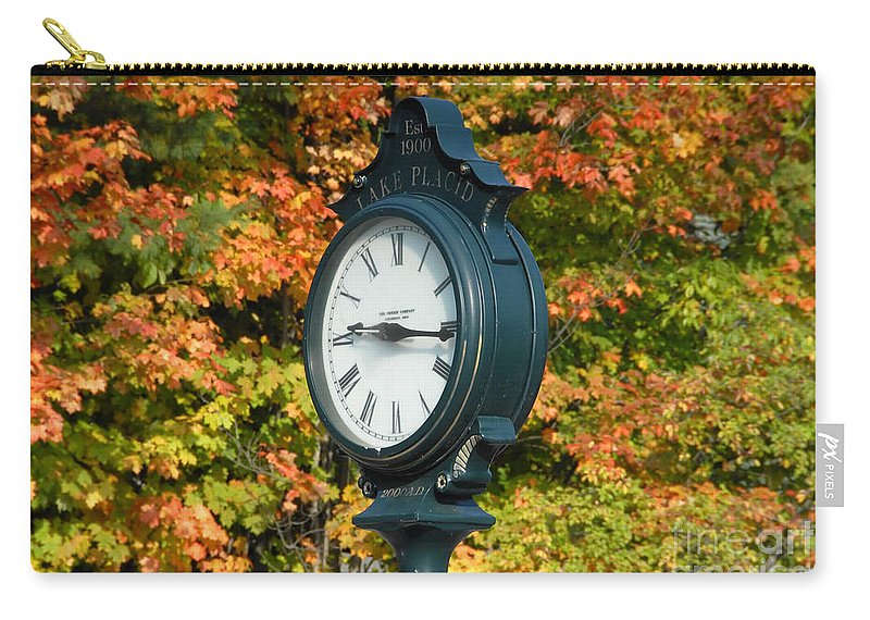 Lake Placid New York Carry-all Pouch featuring the photograph Fall Time by David Lee Thompson