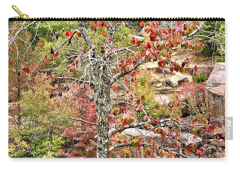 Fall Carry-all Pouch featuring the photograph Fall Tree With Intense Colors by Larry Jost