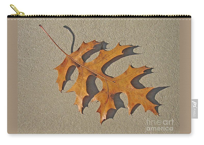 Leaf Carry-all Pouch featuring the photograph Fallen by Ann Horn