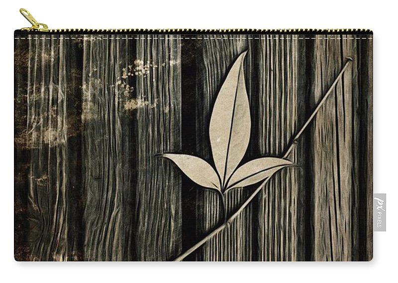 Icolorama Carry-all Pouch featuring the photograph Fallen Leaf by John Edwards