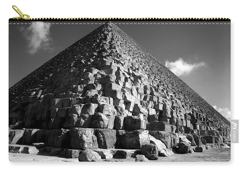 Fallen Stones Carry-all Pouch featuring the photograph Fallen Stones At The Pyramid by Donna Corless