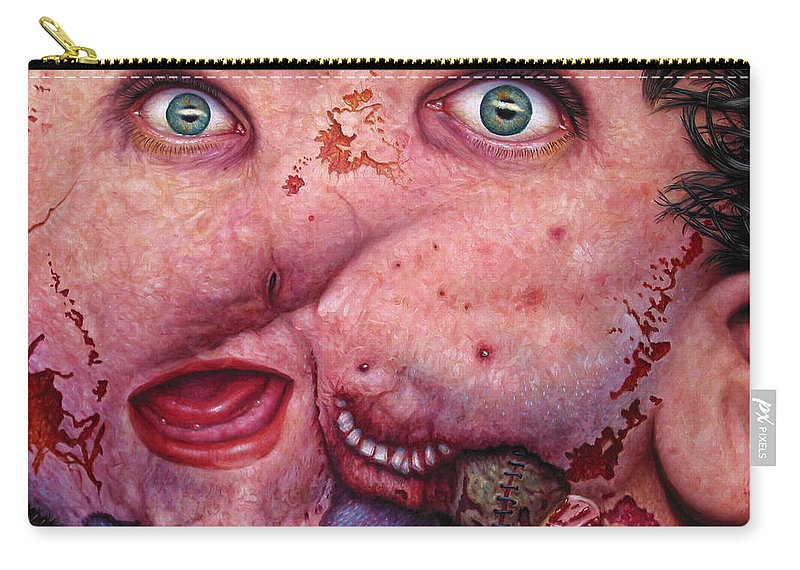 Gross Carry-all Pouch featuring the painting Falling Apart by James W Johnson