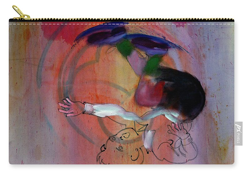 Fall Carry-all Pouch featuring the painting Falling Boy by Charles Stuart
