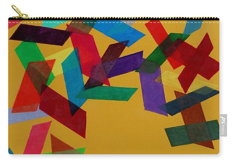 Abstract Carry-all Pouch featuring the mixed media Falling by Charla Van Vlack