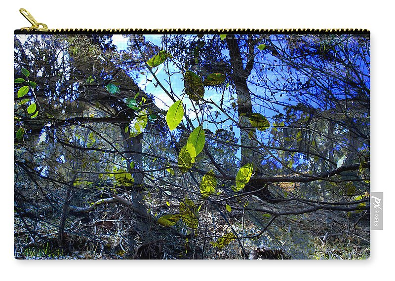 Leaves Carry-all Pouch featuring the photograph Falling Leaves by Kelly Jade King