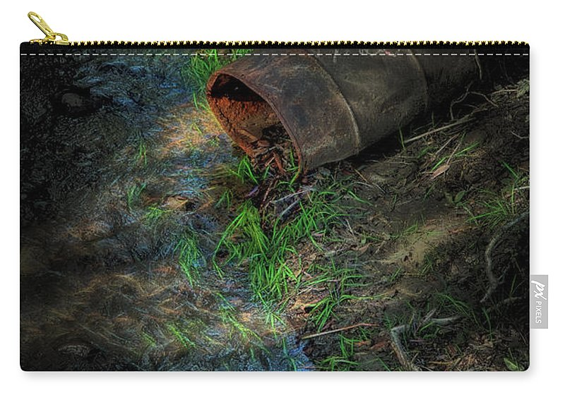 Lauramacky Carry-all Pouch featuring the photograph Falling Out by Laura Macky
