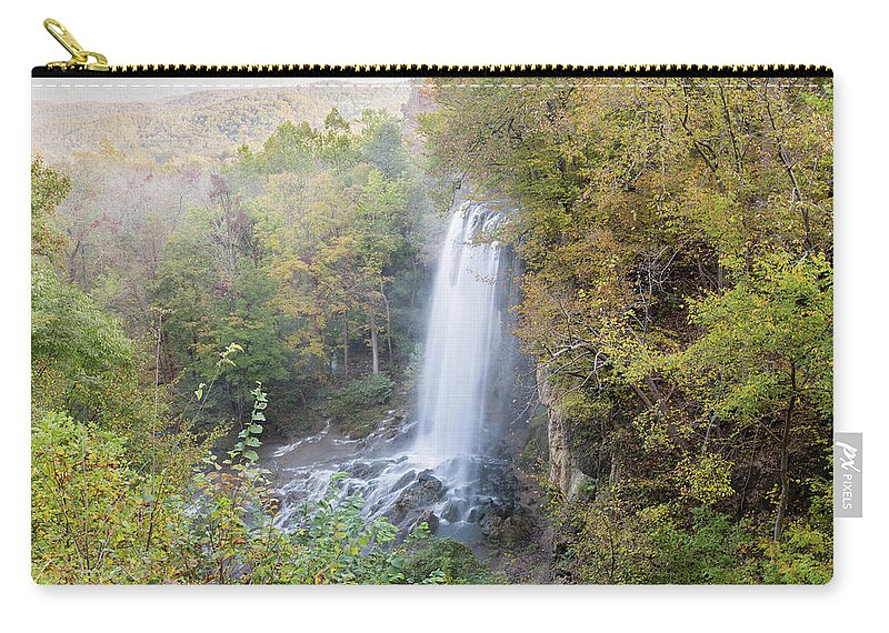 Photosbymch Carry-all Pouch featuring the photograph Falling Spring Falls by M C Hood