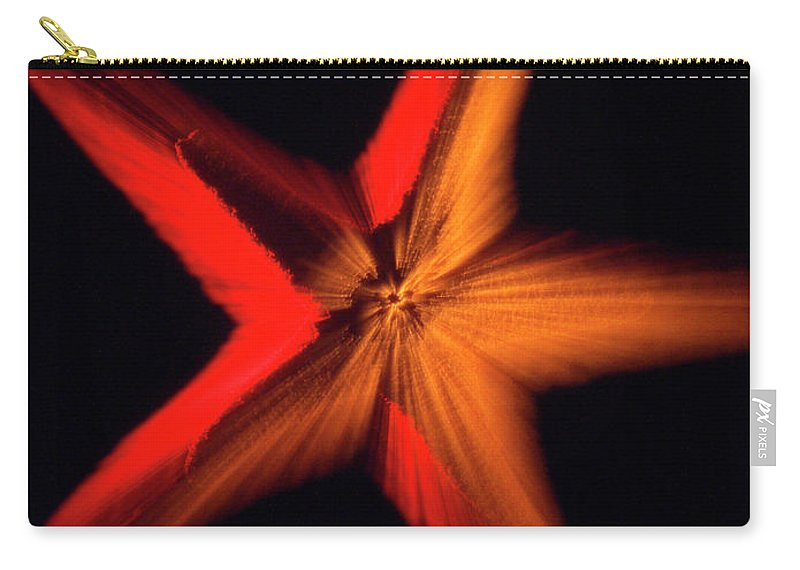 Color Carry-all Pouch featuring the photograph Falling Starfish One by Frederic A Reinecke