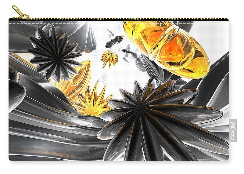 3d Carry-all Pouch featuring the digital art Falling Stars Abstract by Alexander Butler