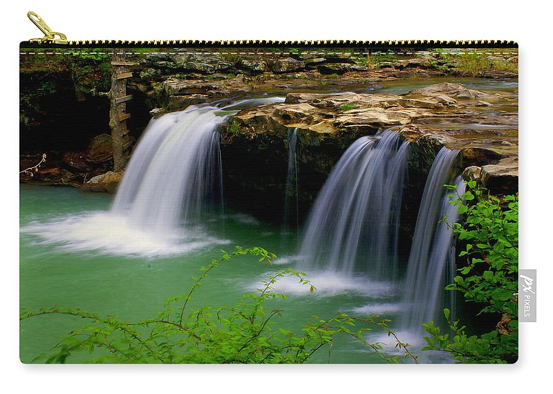 Waterfalls Carry-all Pouch featuring the photograph Falling Water Falls by Marty Koch