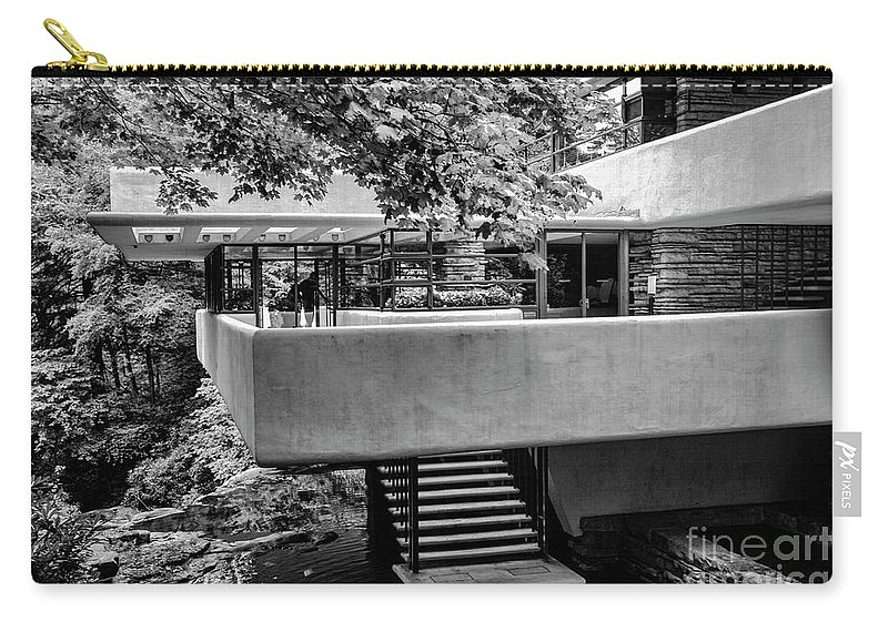 Frank Lloyd Wright Carry-all Pouch featuring the photograph Fallingwater Frank Lloyd Wright Architecture by Chuck Kuhn