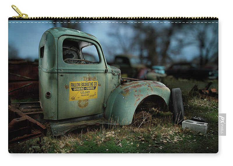 Antique Carry-all Pouch featuring the photograph Fallon Excavating Co. by YoPedro