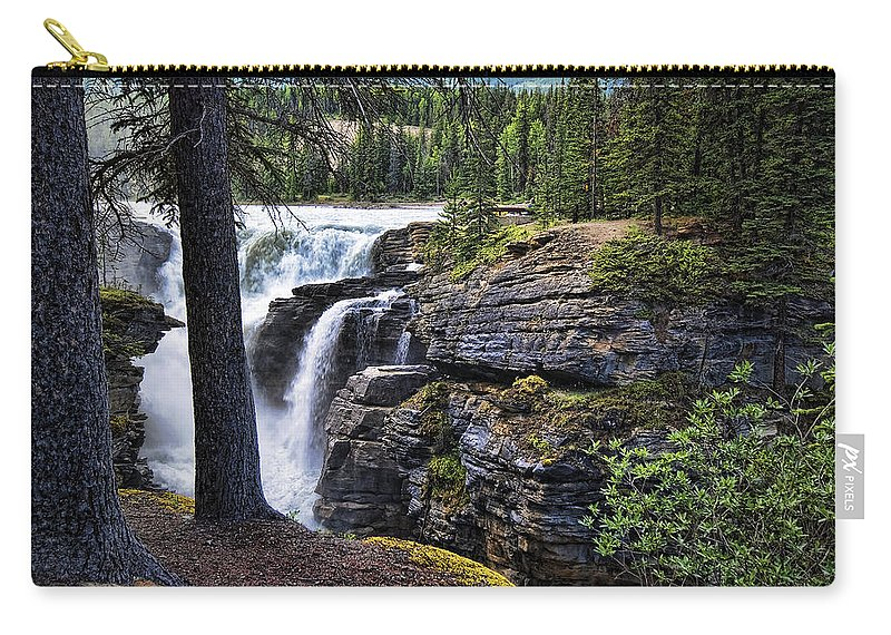 Canada Carry-all Pouch featuring the photograph Falls 3 by Wayne Sherriff