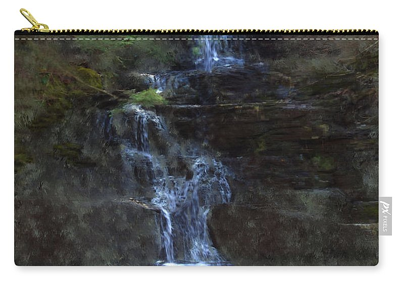 Carry-all Pouch featuring the photograph Falls At 6 Mile Creek Ithaca N.y. by David Lane