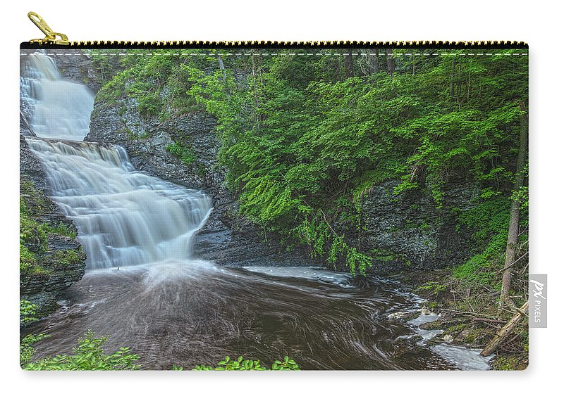 Waterfalls Carry-all Pouch featuring the photograph Falls Of Mystery by Angelo Marcialis Melody Of Light Photography