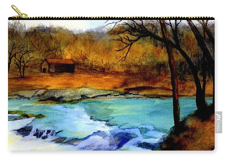 Waterfall Carry-all Pouch featuring the painting Fallsburg Ky Falls by Gail Kirtz