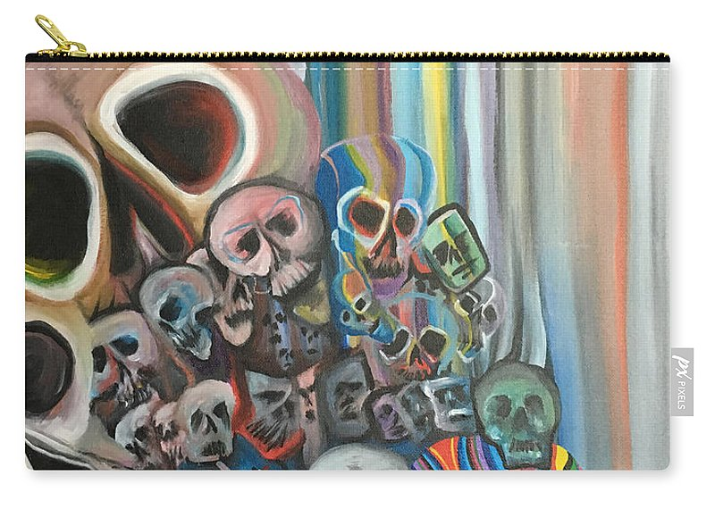 Colors Carry-all Pouch featuring the painting Falter by Kyle Jewell