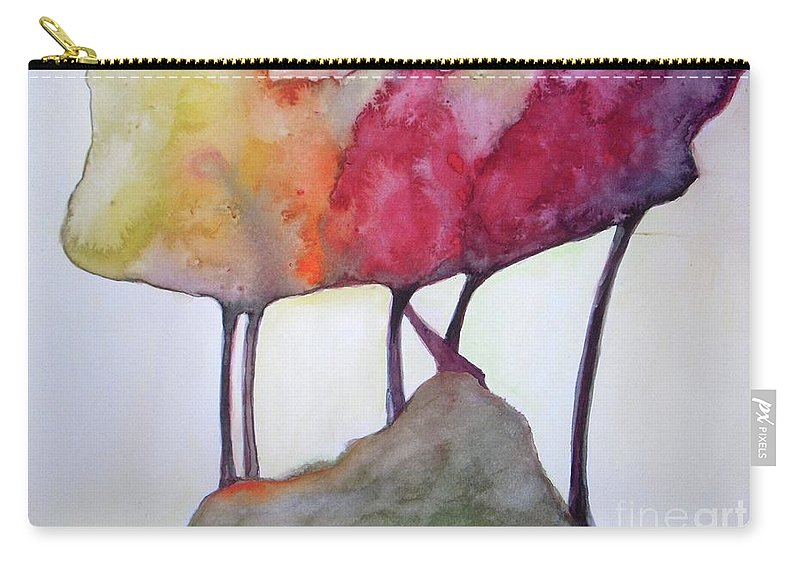 Landscape Carry-all Pouch featuring the painting Family Connected by Vesna Antic