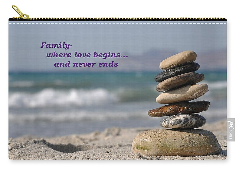 Carry-all Pouch featuring the photograph Family by Terrie Sizemore