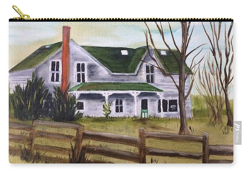 Landscape Carry-all Pouch featuring the painting Family Wanted by Gail Grundberg Judd