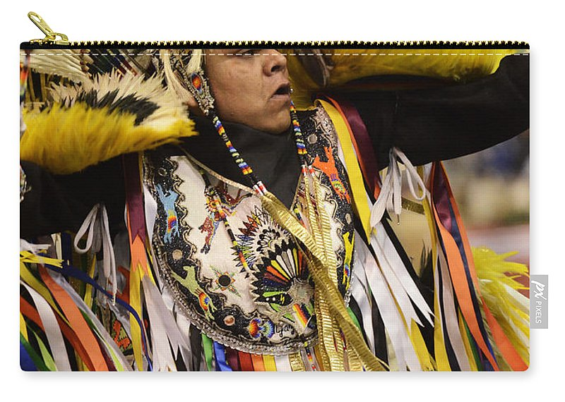 Pow Wow Carry-all Pouch featuring the photograph Pow Wow Fancy Dancer 2 by Bob Christopher