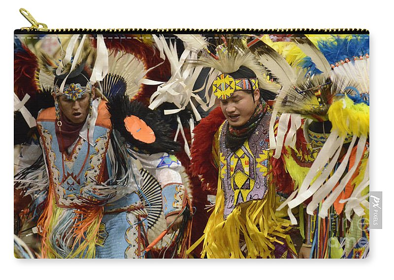 Pow Wow Carry-all Pouch featuring the photograph Pow Wow Fancy Dancers 7 by Bob Christopher