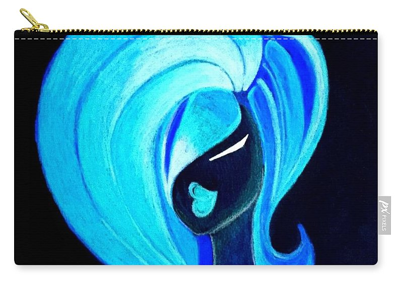 Girl Carry-all Pouch featuring the drawing Fancy Nite by Tamara Fordham