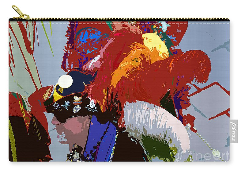 Pirate Carry-all Pouch featuring the painting Fancy Pirate by David Lee Thompson