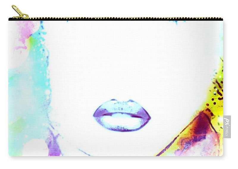 Fanny Carry-all Pouch featuring the digital art Fanny by Pikotine Art