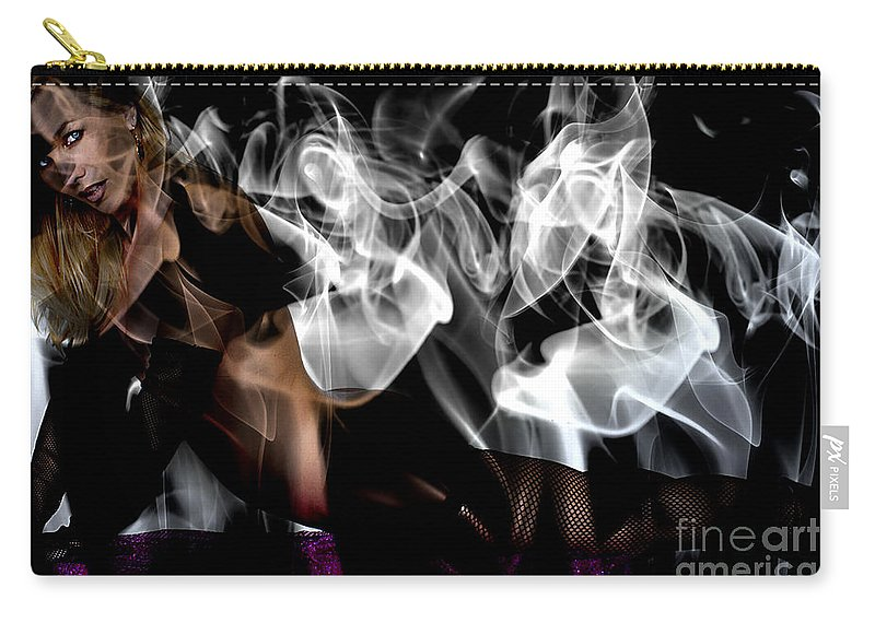 Clay Carry-all Pouch featuring the photograph Fantasies In Smoke I by Clayton Bruster
