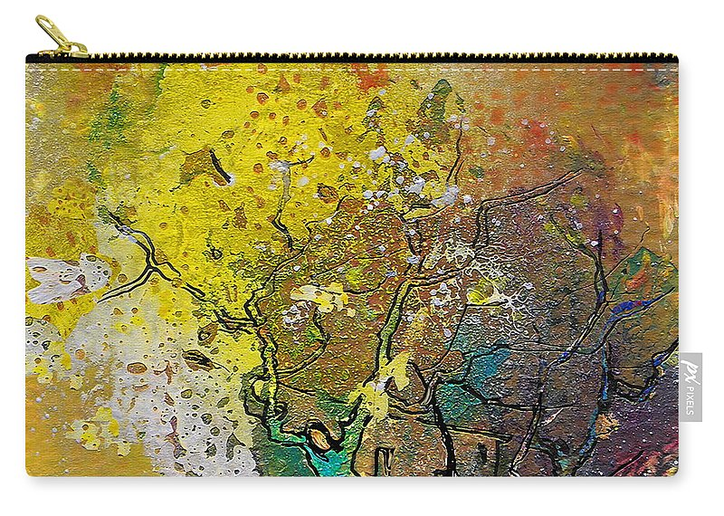 Miki Carry-all Pouch featuring the painting Fantaspray 13 1 by Miki De Goodaboom