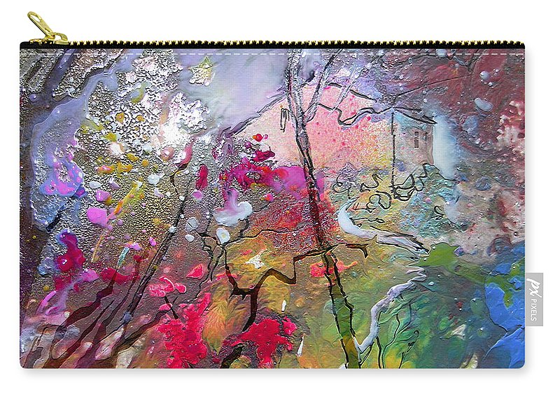 Miki Carry-all Pouch featuring the painting Fantaspray 19 1 by Miki De Goodaboom
