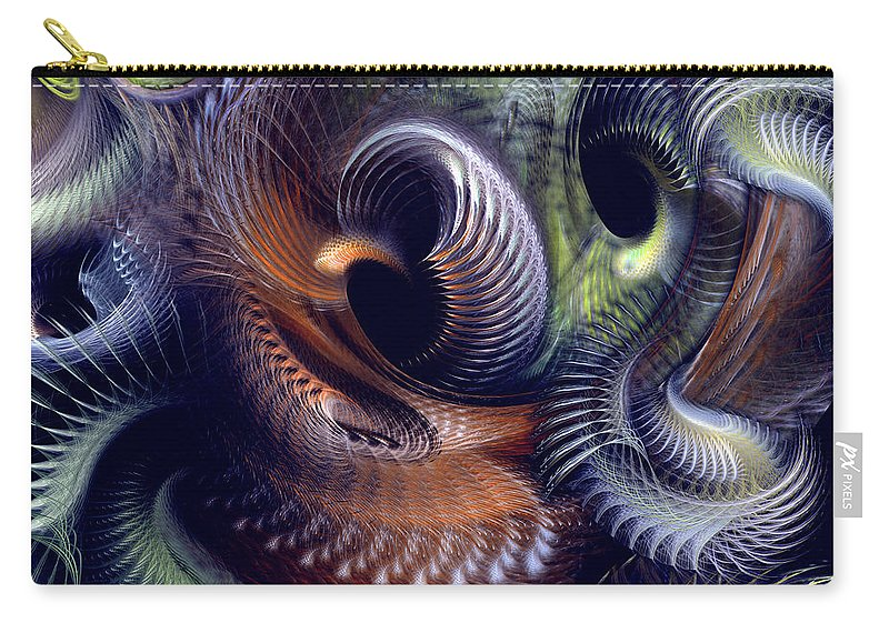 Abstract Carry-all Pouch featuring the digital art Fantastique by Casey Kotas