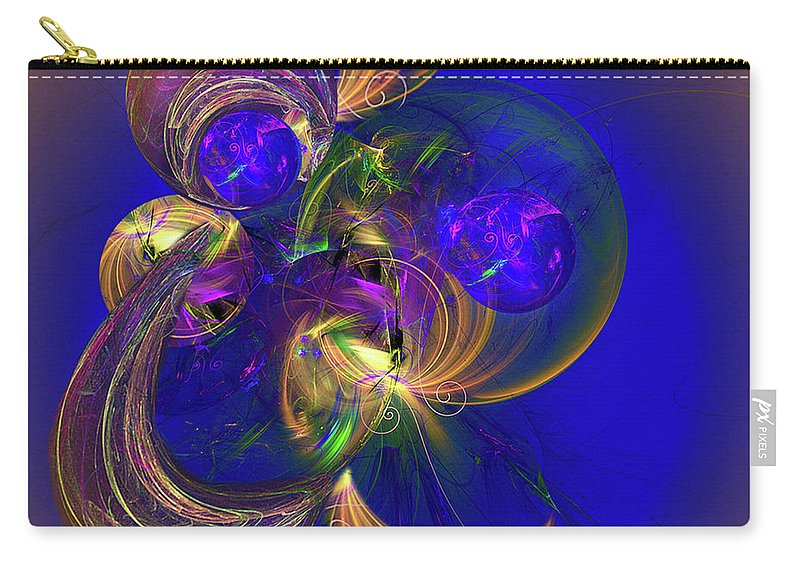 Fractal Art Carry-all Pouch featuring the digital art Fantasy Ball by Jennifer Stackpole