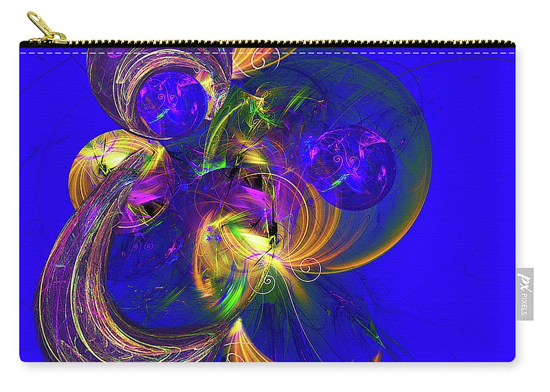 Fractal Art Carry-all Pouch featuring the digital art Fantasy Dreams by Jennifer Stackpole