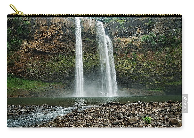 Waterfall Carry-all Pouch featuring the photograph Fantasy Island Falls by Michael Peychich