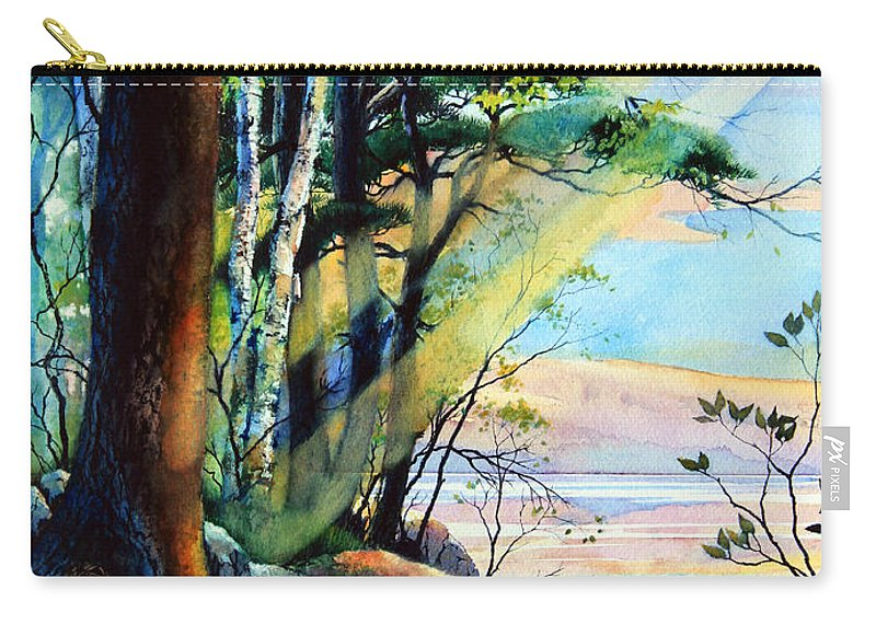 Fantasy Island Art Carry-all Pouch featuring the painting Fantasy Island by Hanne Lore Koehler
