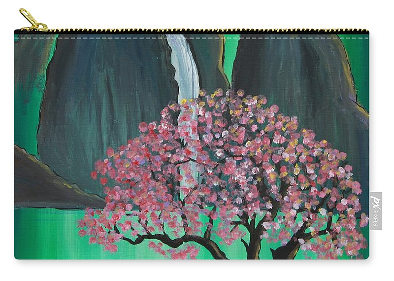 Japan Carry-all Pouch featuring the painting Fantasy Japan by Jacqueline Athmann