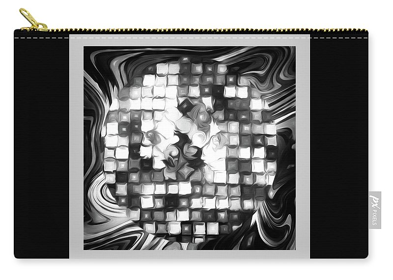 Fantasy Carry-all Pouch featuring the photograph Fantasy Tiles Abstract by Jennifer Stackpole