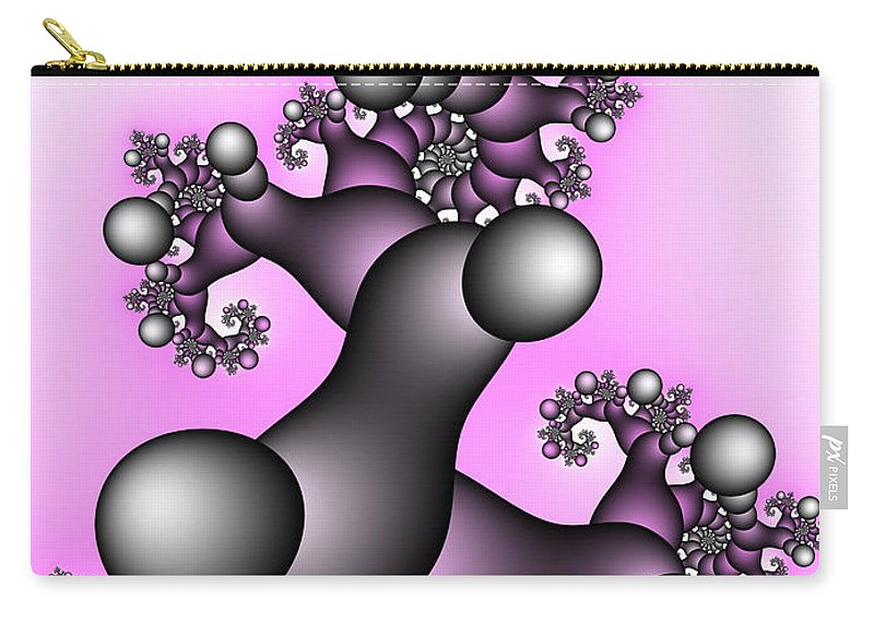 Fractal Carry-all Pouch featuring the digital art Fantasy Tree by Jutta Maria Pusl