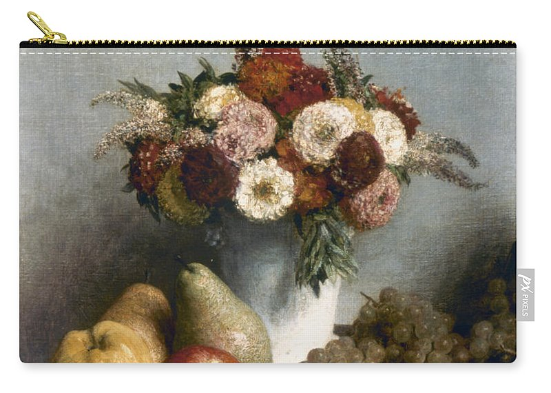 1865 Carry-all Pouch featuring the photograph Fantin-latour: Fruits, 1865 by Granger
