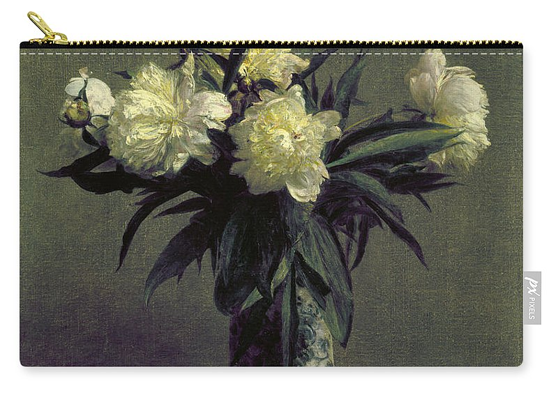 1872 Carry-all Pouch featuring the photograph Fantin-latour: Peonies, 1872 by Granger